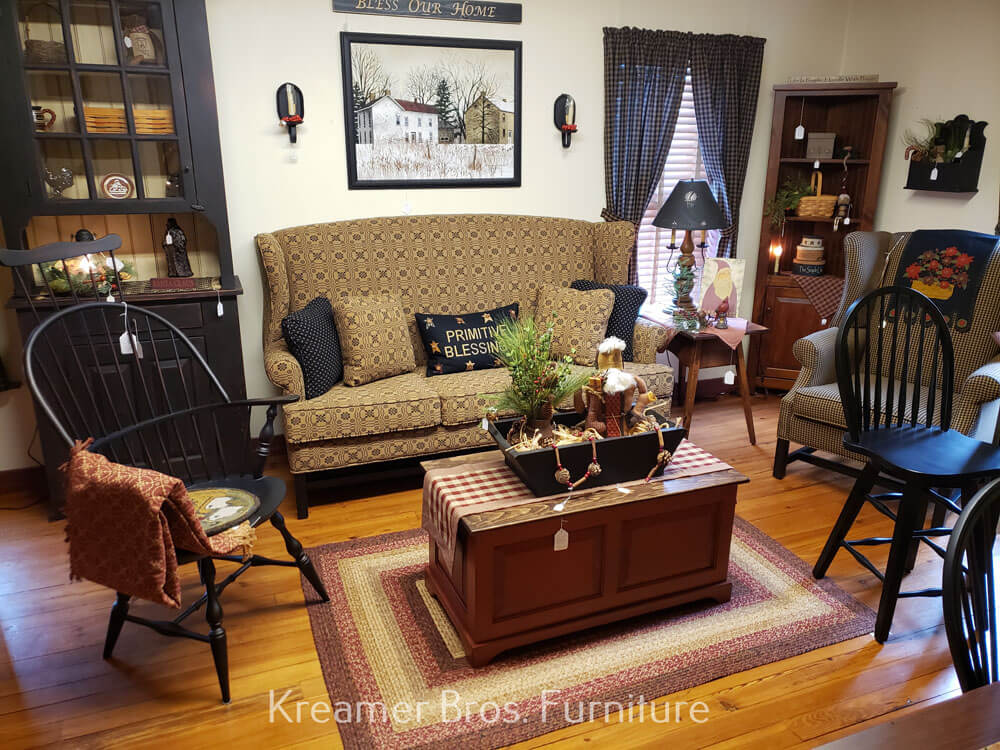 Kreamer Brothers Furniture, Town And Country Primitive Upholstered Furniture